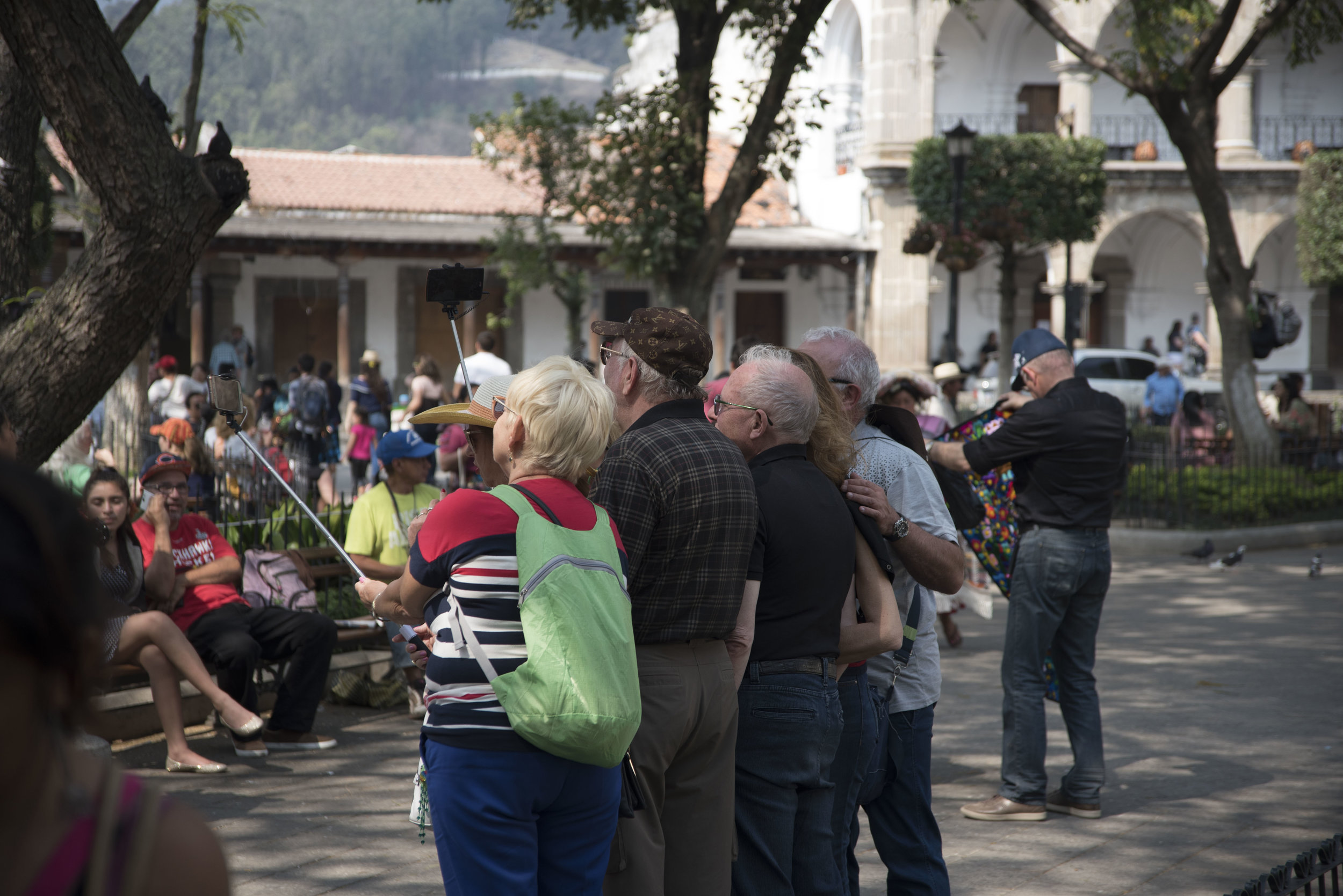 Selfie sticks in the wrong hands can lead to scenes like this. (Antigua, Guatemala; Feb 2017)