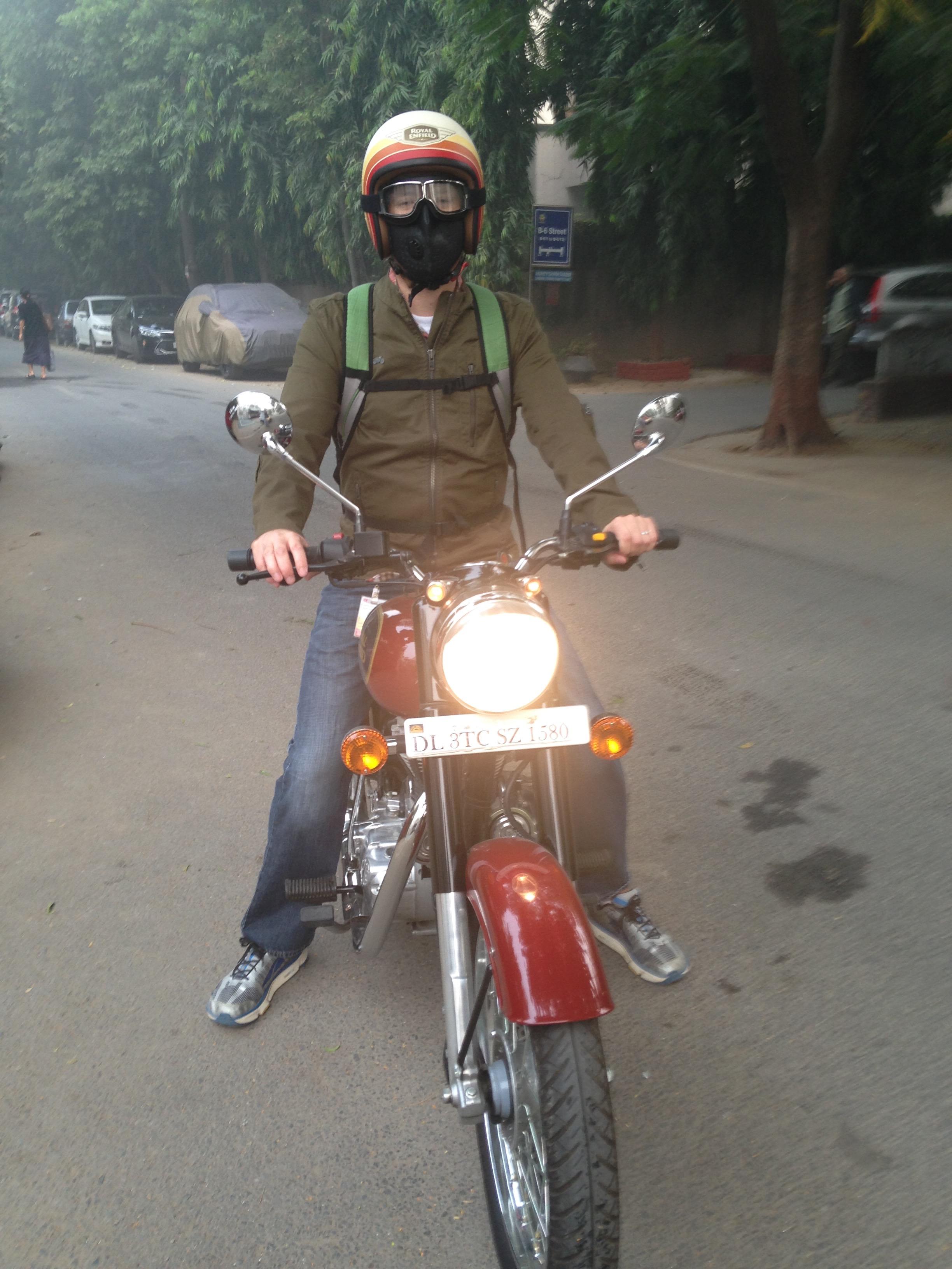 You take your car to work, I'll take my bike. (Delhi, India; Oct 2017)
