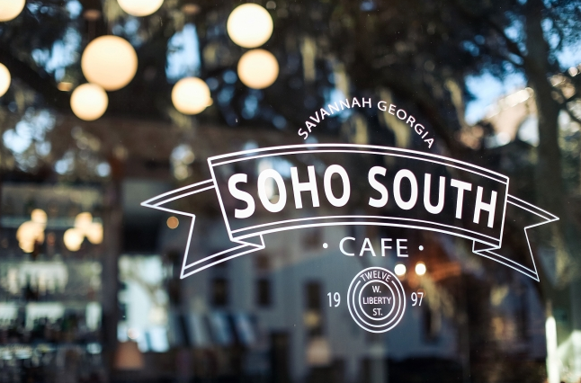 Soho South Cafe photographed by  Teresa Earnest , styling by  Design Studio South  featuring  Blush by Hayley Paige  from  Ivory & Beau