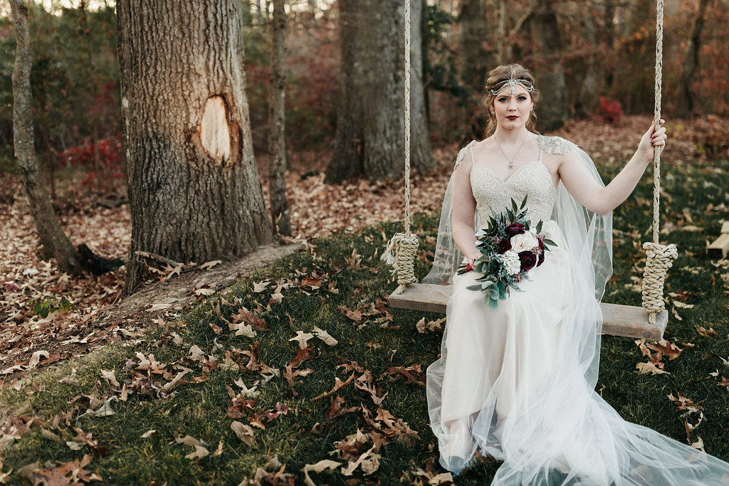 MORGAN'S WHIMSICAL WINTRY WEDDING