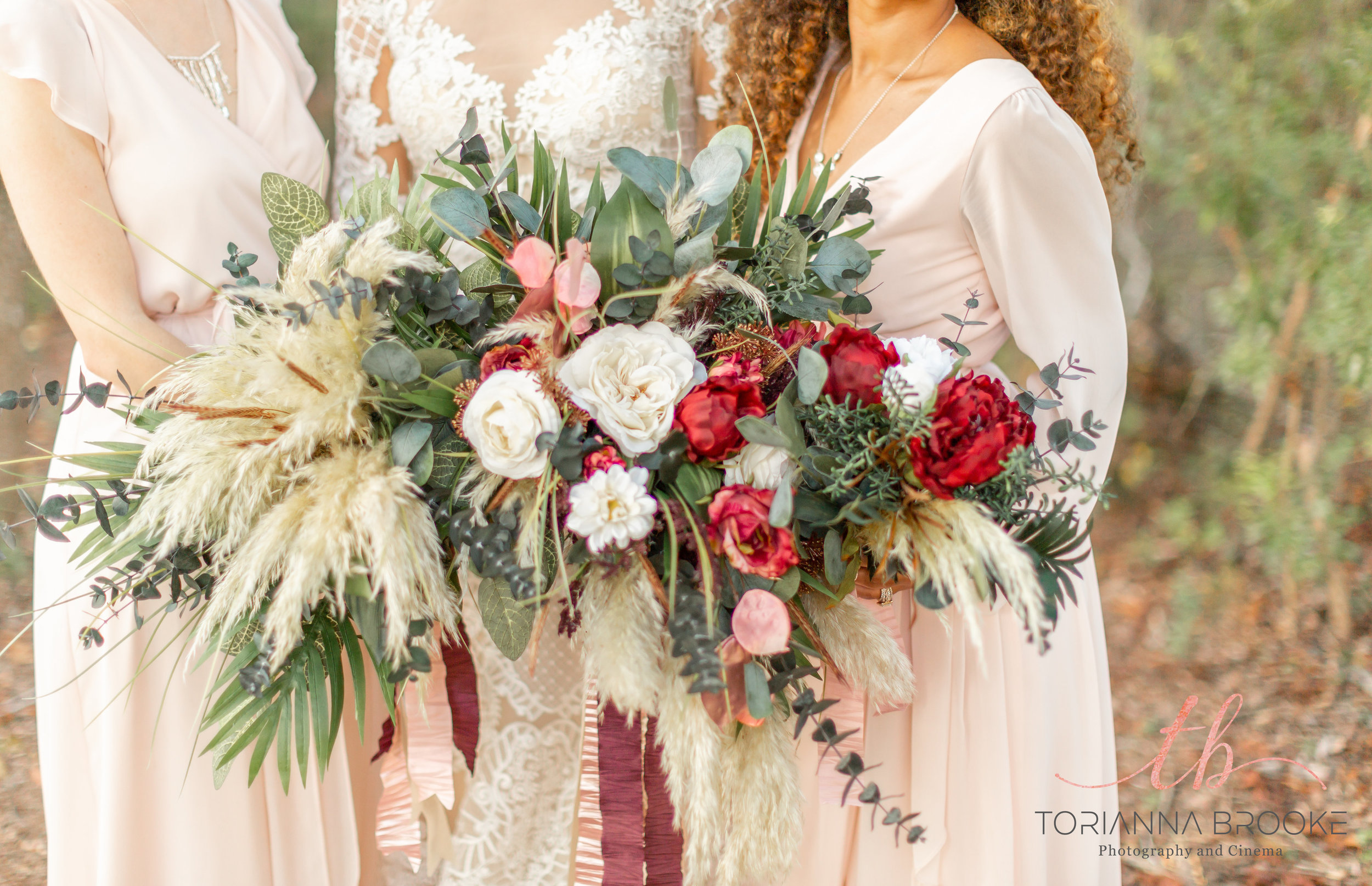 We love how wild and fun these bouquets are!
