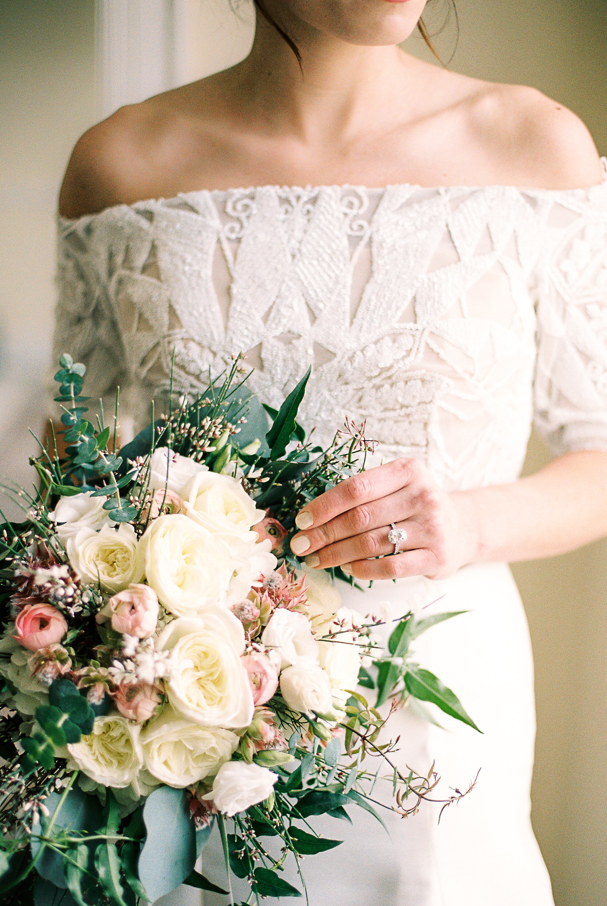 This is the Imaan Bolero. It's such a fun way to add a little bit of personalization to your wedding gown! We love the Art Deco vibes this bolero is giving!