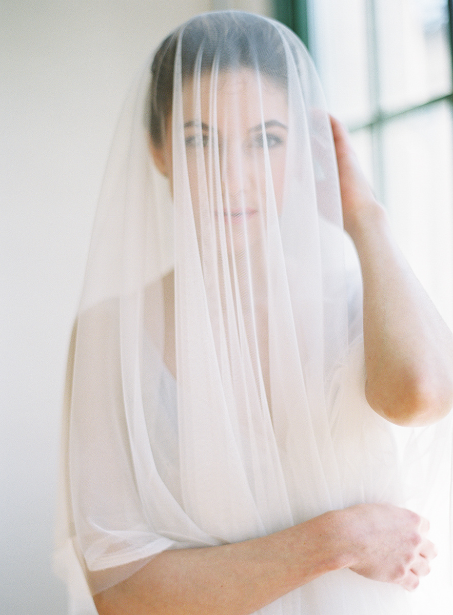 One of Jaclyn's stunning cathedral-length veils! Isn't this image so beautiful? Her fabrics are exquisite.