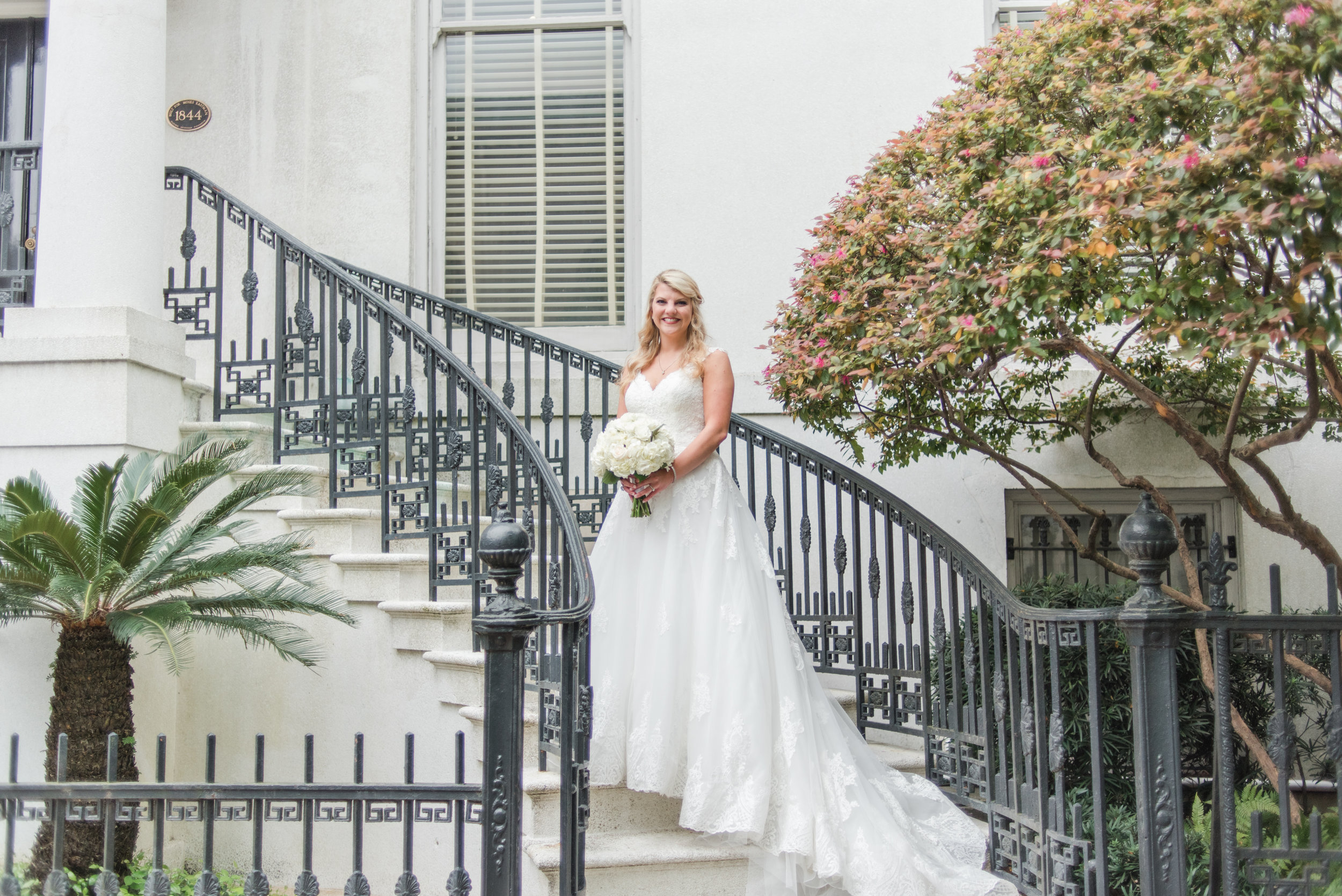How gorgeous is Kayla in her wedding dress?! We're so obsessed with this picture!!