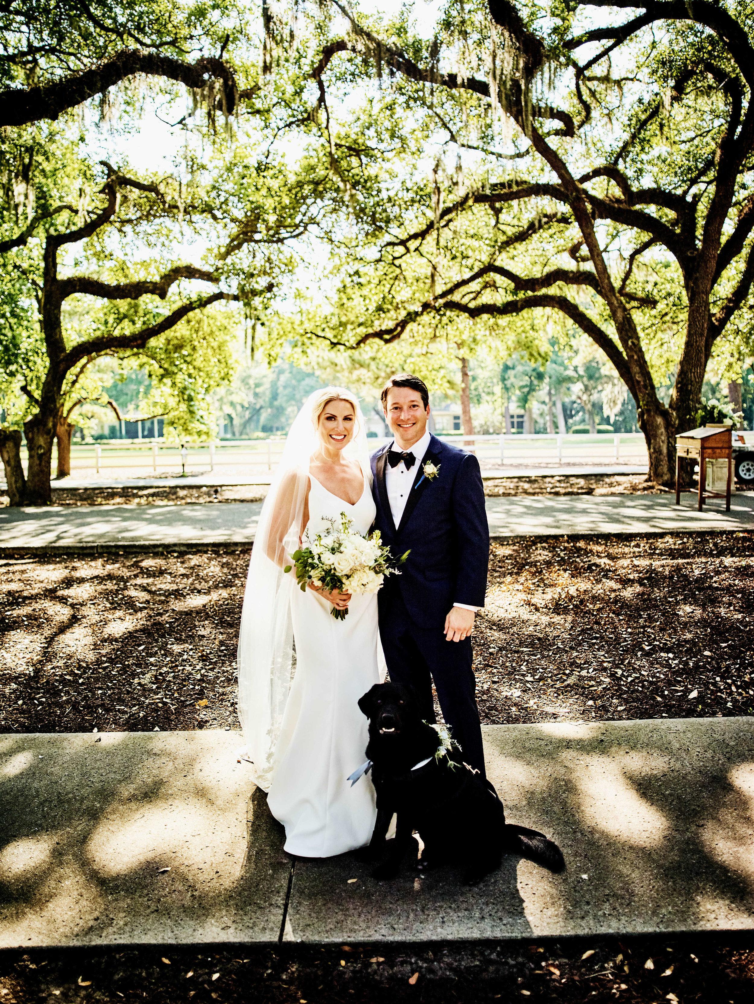 annie-and-greg-weding-belfair-plantation-ivory-and-beau-savannah-wedding-savannah-wedding-planner-classic-timeless-bride-groom-dog-belfair-plantation.jpg