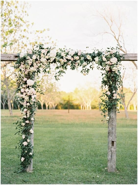 - The reality is…a budget of $1,000 would look more like this - a square frame not completely covered in blooms or greenery.Range: $750-1,200*Price would vary by type of flower