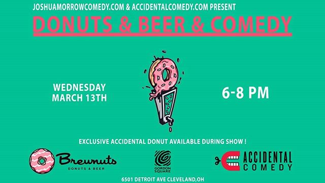 Hey guys, we're back at Brewnuts for Donuts & Beer & Comedy this Wednesday at 6p so now you have plans for Hump Day Happy Hour! Come enjoy this free show. We have a special surprise that we have been working on for you all. See you then!