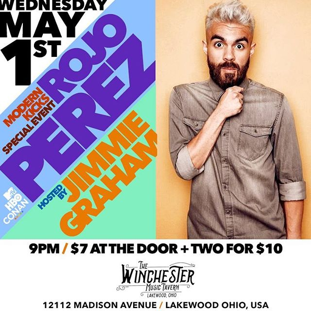Just announced. Two weeks from today @rojo Perez is coming back to Cleveland for one night only. Rojo just dropped an hbo special that you should go check out. $7 tix or 2 for ten. Will have a ticket link shortly. But in the mean time find a baby sitter and plan on coming to the @thewinchesterbar_ this night.