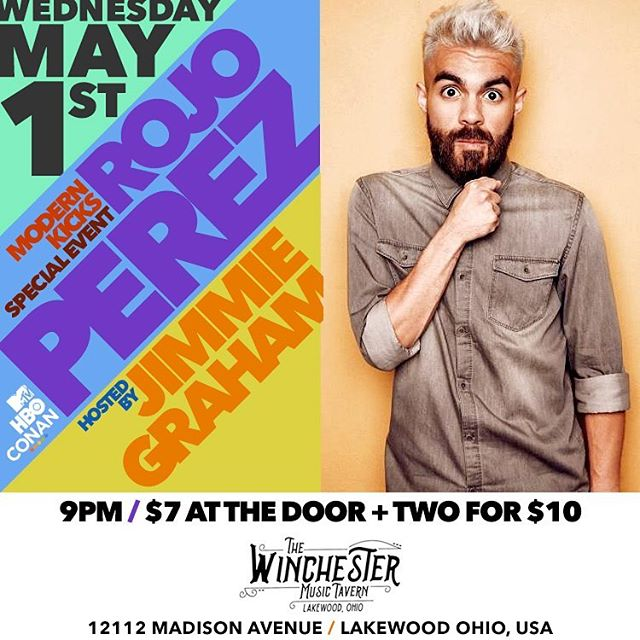 Happy first day of May. Looking for a way to enjoy your night? Stop by the @thewinchesterbar_  to check out @rojoperezzz fresh off his HBO special.  Sets by @marysantoracomedy  @instajimmiegraham  show at 9 tickets are only $7 or 2 for $10