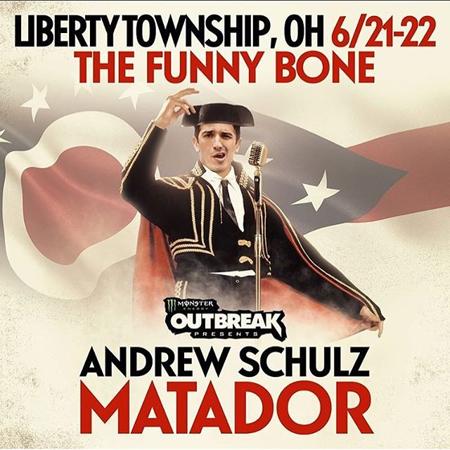 This weekend i get to work with @andrewschulz again! This time at the @libertyfunnybone, 4 times to catch the show, two Friday, two Saturday.