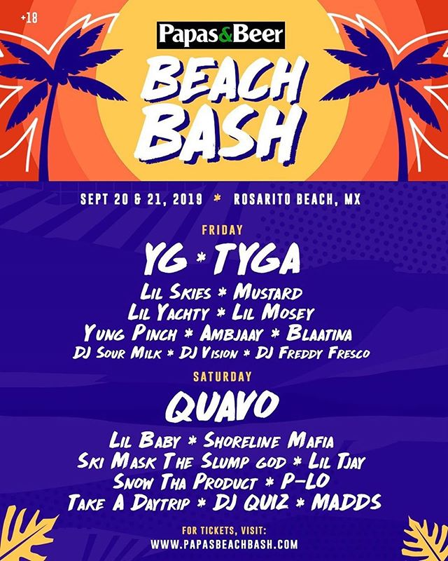 Saturday Sept 21st Rosarito Mexico! 🇲🇽 I'm touching down on that stage with a few people you might know! #PapasBeachBash #djquiz #theheavyhitterdjs #skamartist