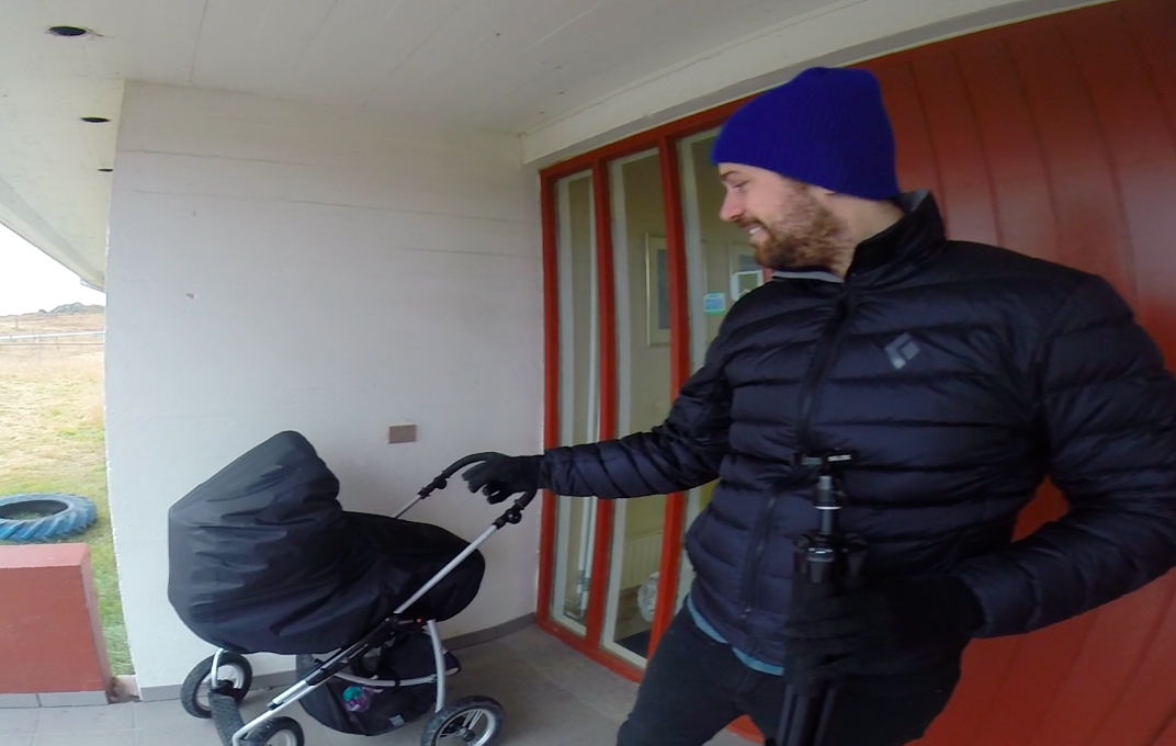 Babies sleep outside in Iceland (apparently in several Nordic countries?...who knew)