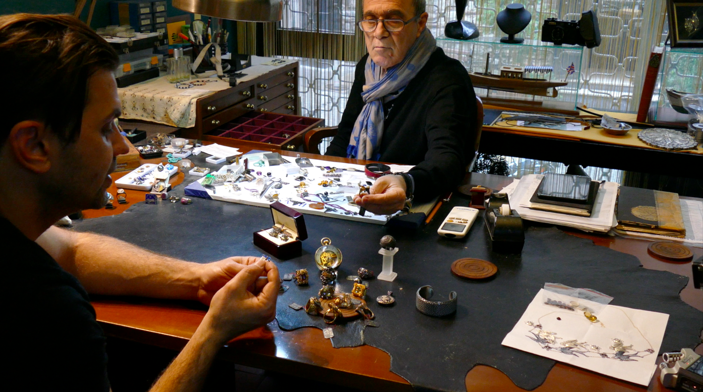 One of our stops on the tour was the workshop of this third generation master jeweler who crafts one of a kind pieces for well heeled and discerning buyers