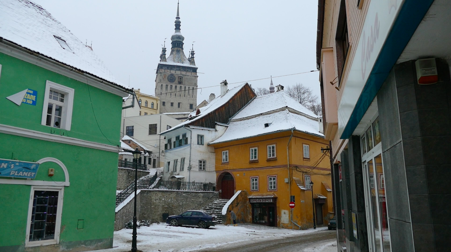 The Sighisoara clocktower (seen in the back of this photo) was built in the 14th century, therefore standing proud and true during Vlad the Impaler's short residence here.