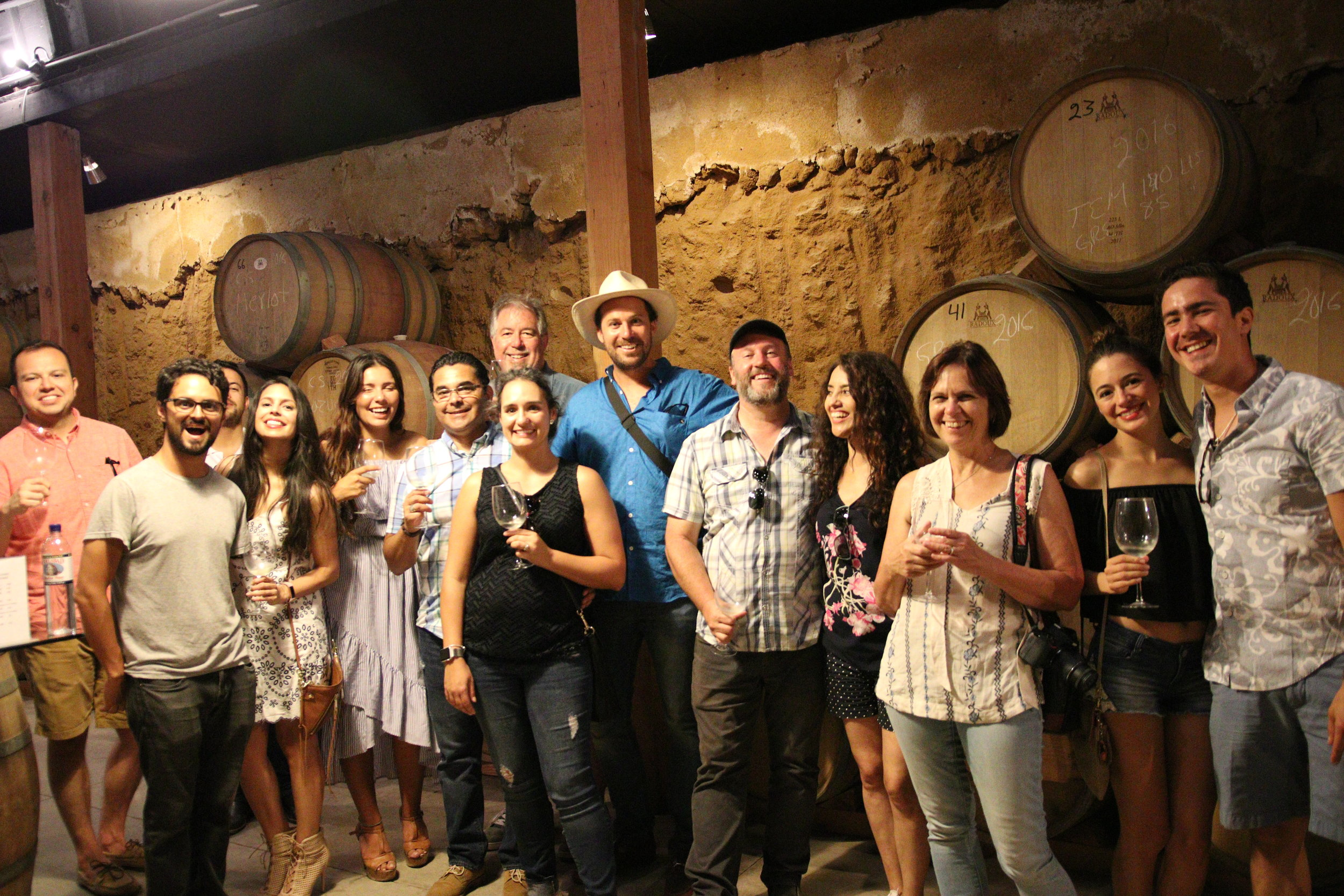 Happy Campers on the first Untethered Together Wine & Dine Experience