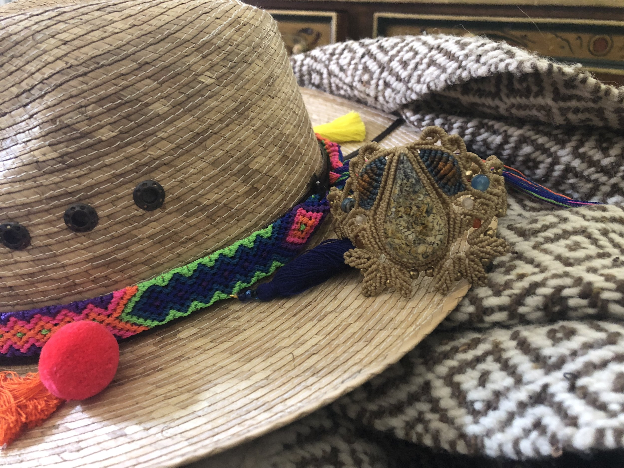 Micromacrame bracelet, handmade scarf, handmade hat band