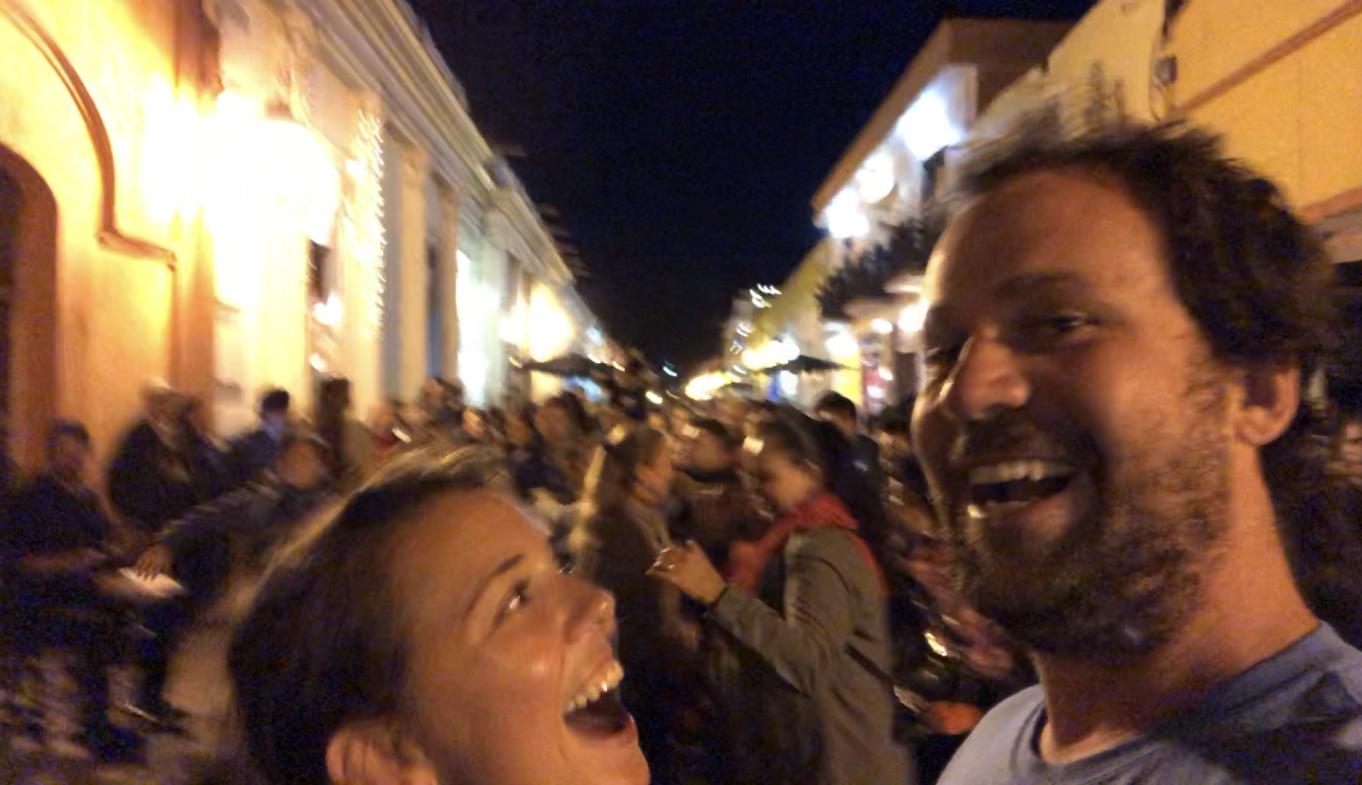 Literally dancing in the streets with joy (and a little wine)