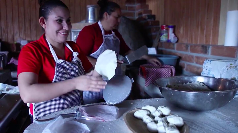 Handmade tortillas at Doña Estela —