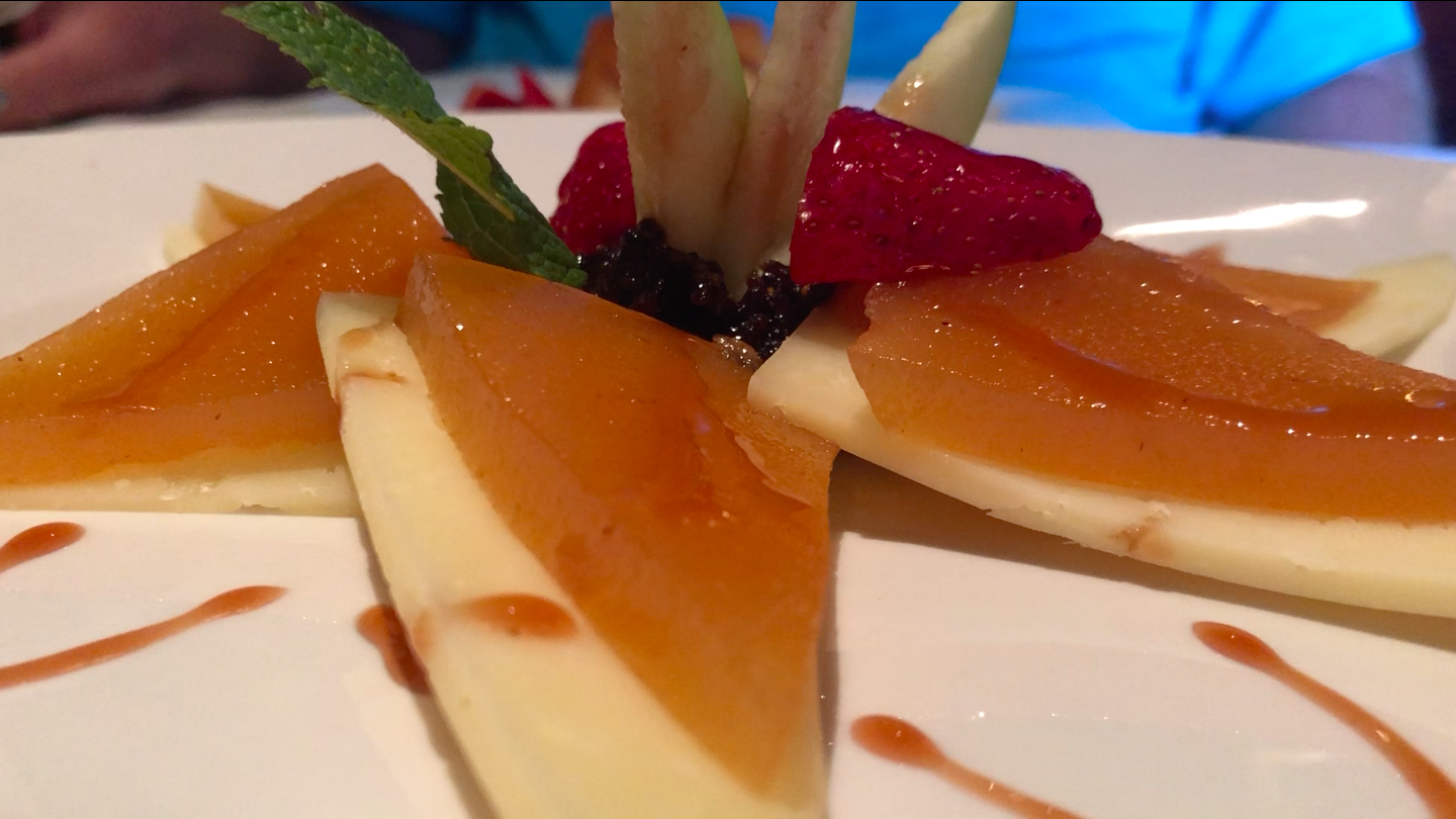 Quince and Cheese desert —
