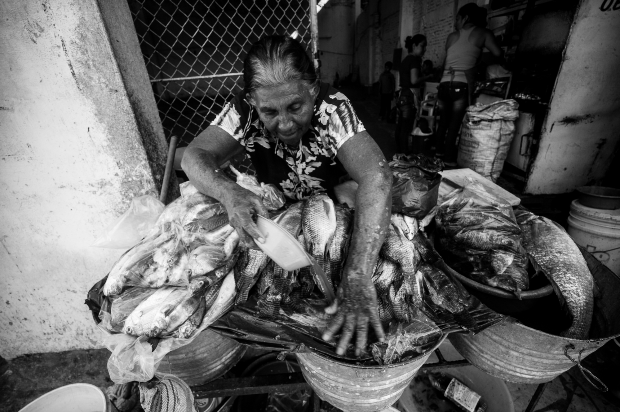 Fish seller in Tapachula.