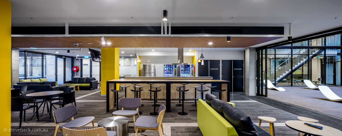 Archtiectural photography of University fo Sydney student accommodation, Abercrombie st