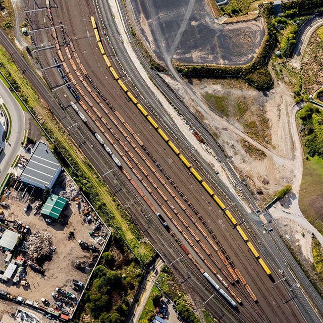 Chullora rail yards... for ARTC.  #australianrailtrackcorporation  #aerialphotography #industrialphotography #stevebackphotography #industrialabstract #railways #railyards #chullora
