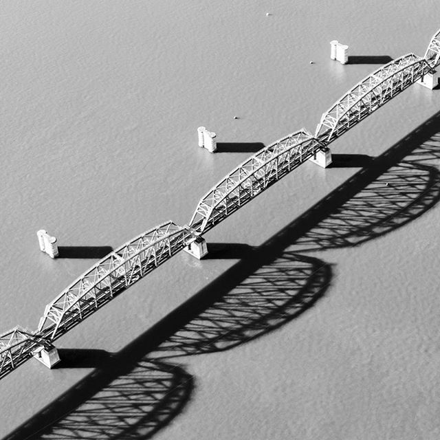 Brooklyn Railway Bridge for Art Pharmacy #artpharmacy #blueskyhelicopters #aerialphotography #aerialabstract #abstractaerialphotography  #brooklynrailwaybridge #brooklynaustralia #helicopterphotography