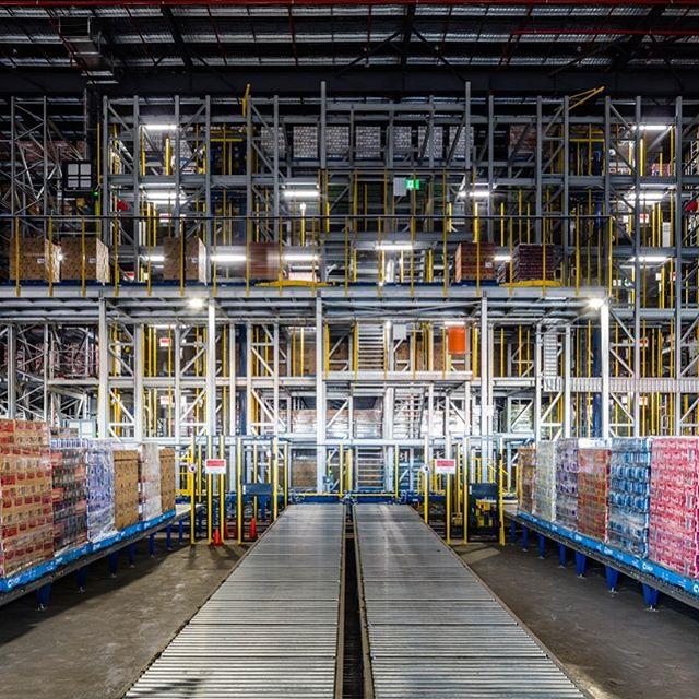 Lights Out warehouse at Coca Cola Amatil.  #industrialphotography  #australia #brisbane #cocacola  #richlands #logistics #lightsout #warehouse