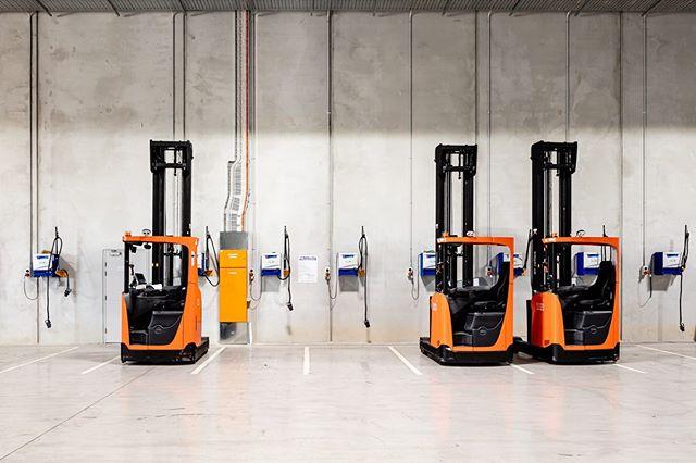 Forklifts at mitre10 Berrinba.  #industrialphotography #forklift #mitre10  #berrinba  #three #shed #logistics #australia