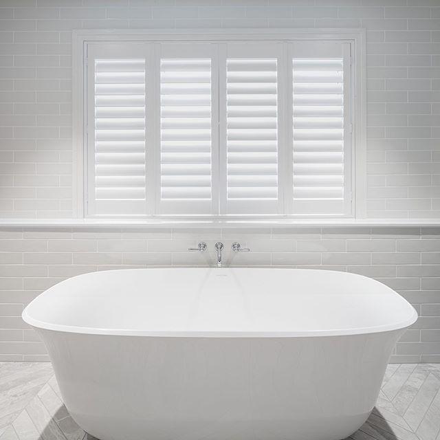 Bath time. Hamilton house for JEO Space.  @jeospace #jeospace #bathroom #white #bath #freestandingbath #shutters #interiors #australia #brisbane #hamilton #interiorphotography #architecturalphotography