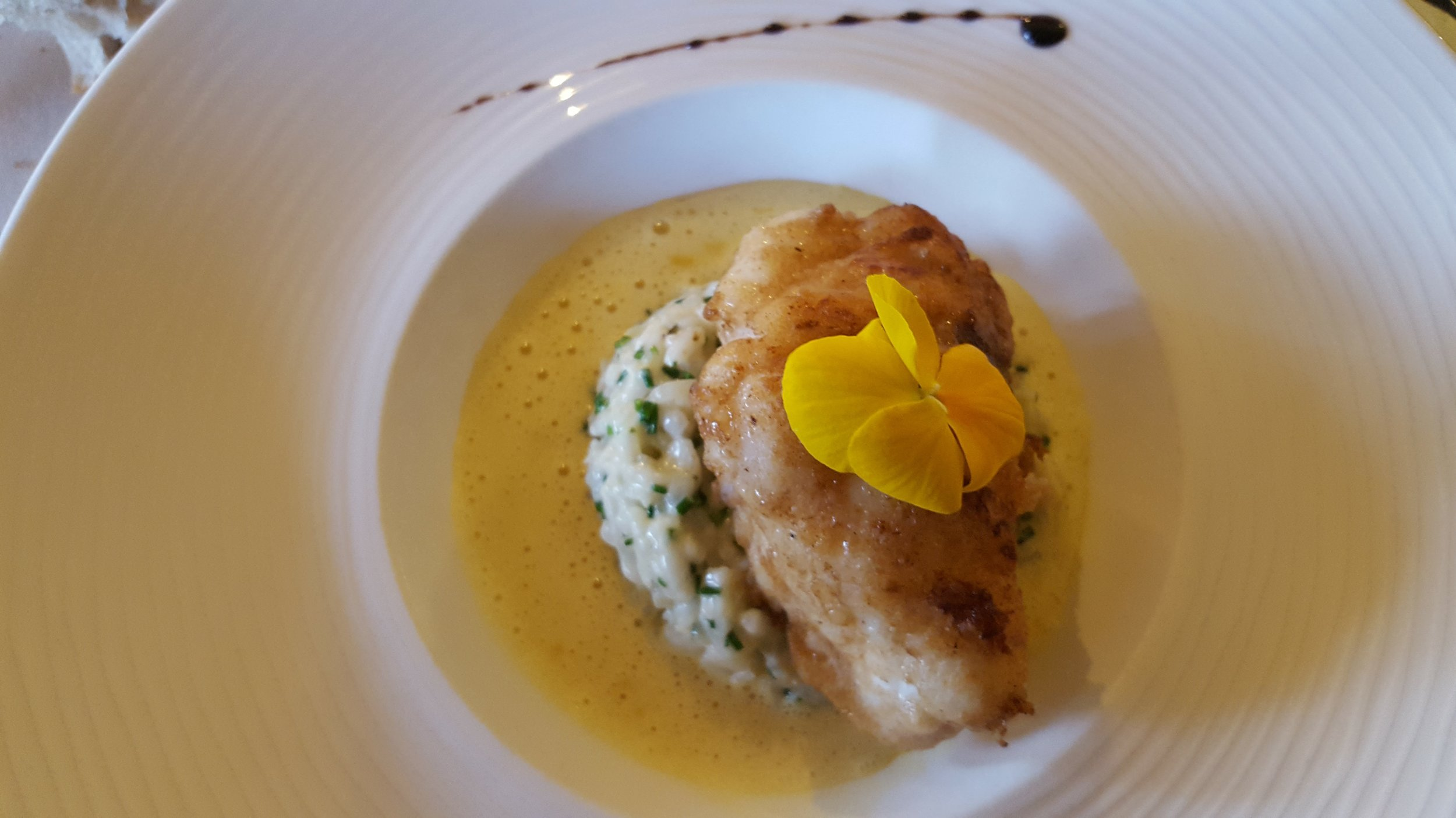 Monkfish with Risotto