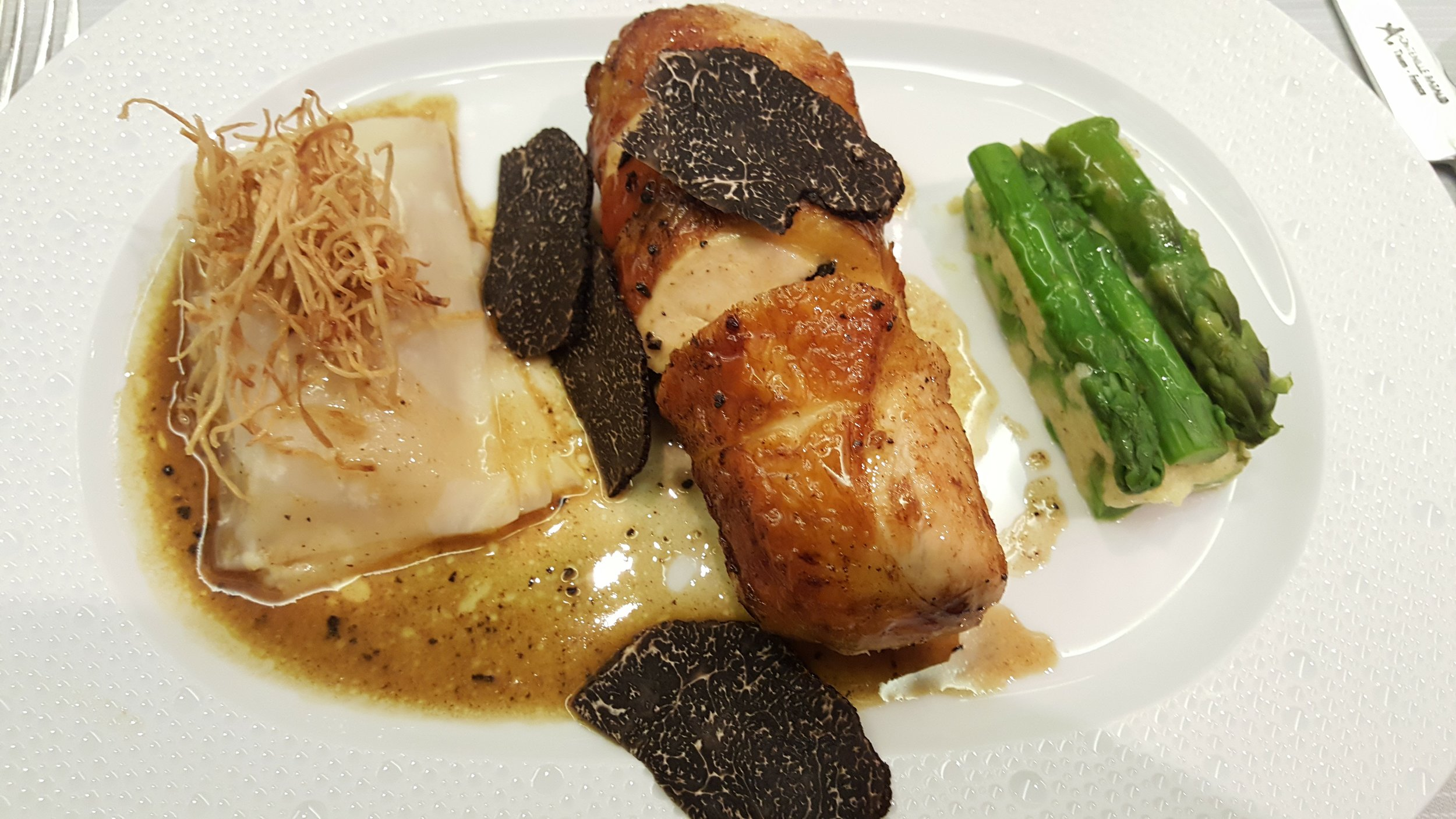 5: Young hen, black truffle, asparagus