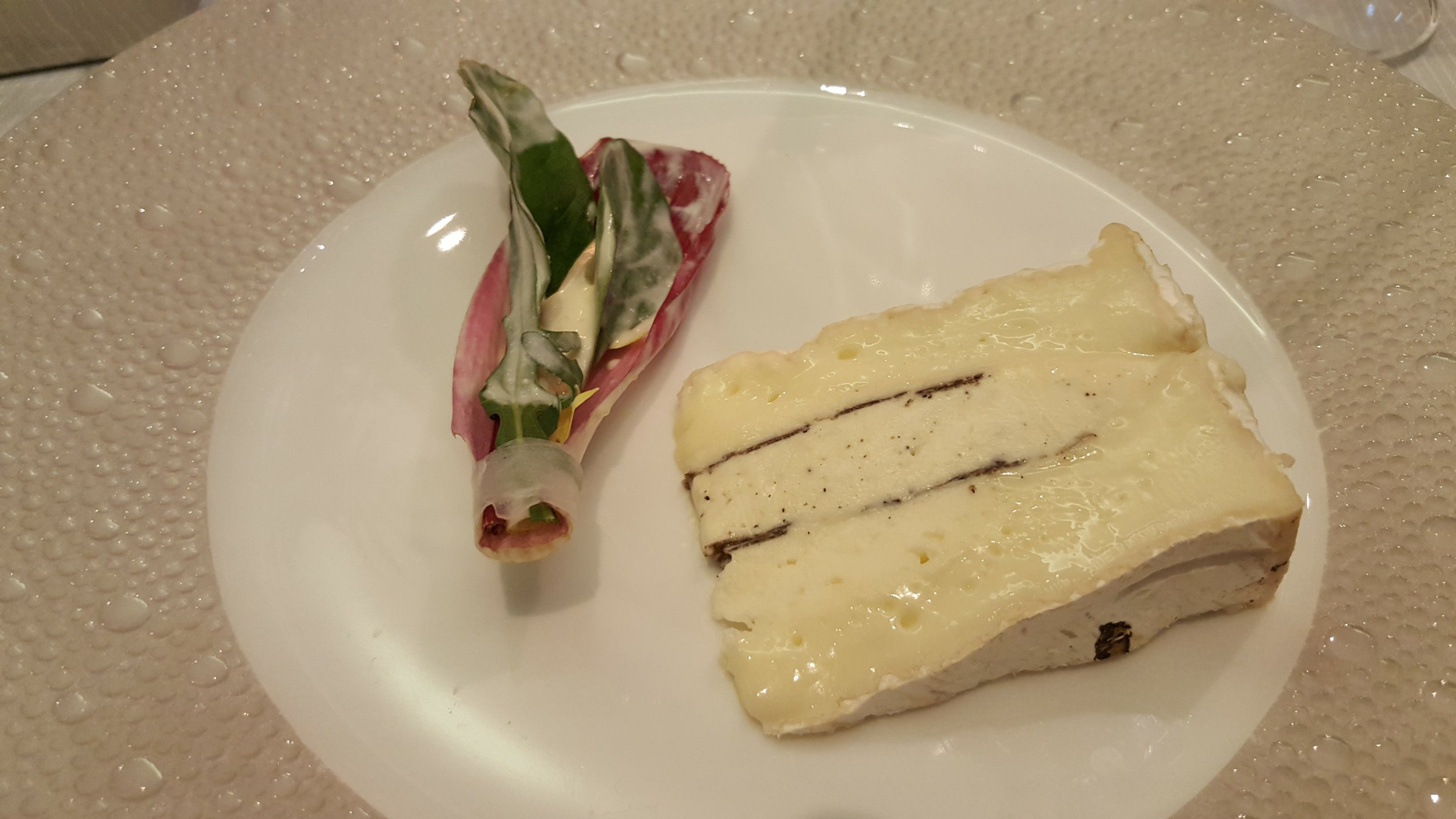7: Fougeru with truffle, a Brie style stuffed with truffled Brillat Savarin