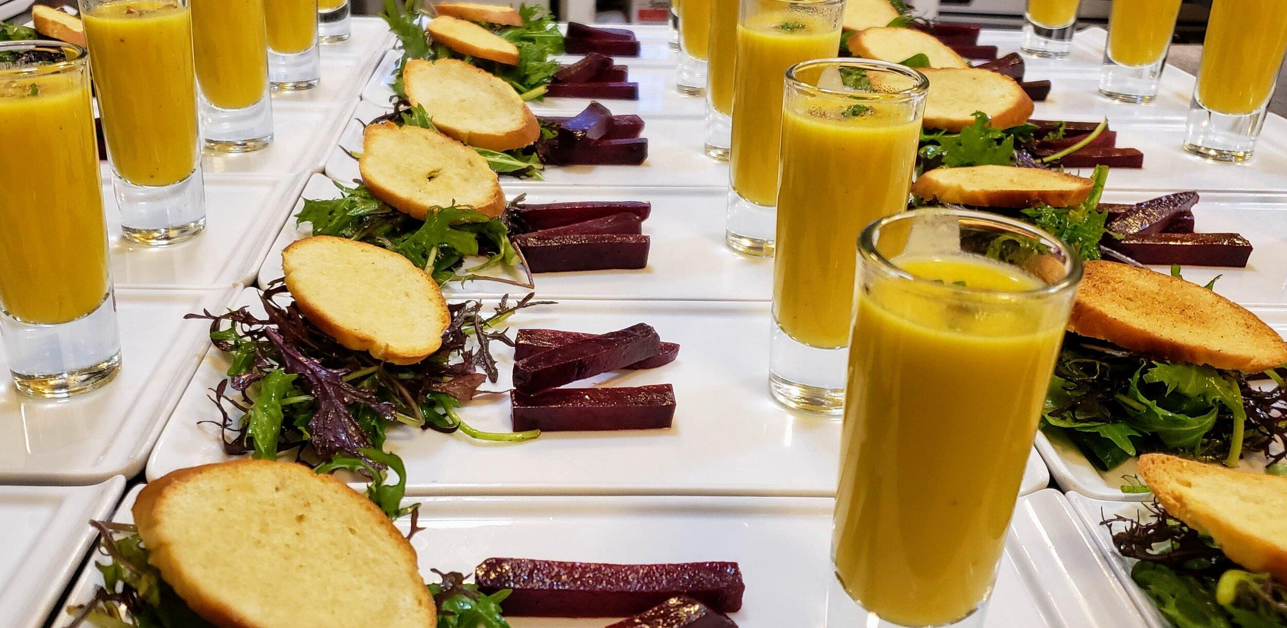 Salad with Acorn Squash Soup.jpg