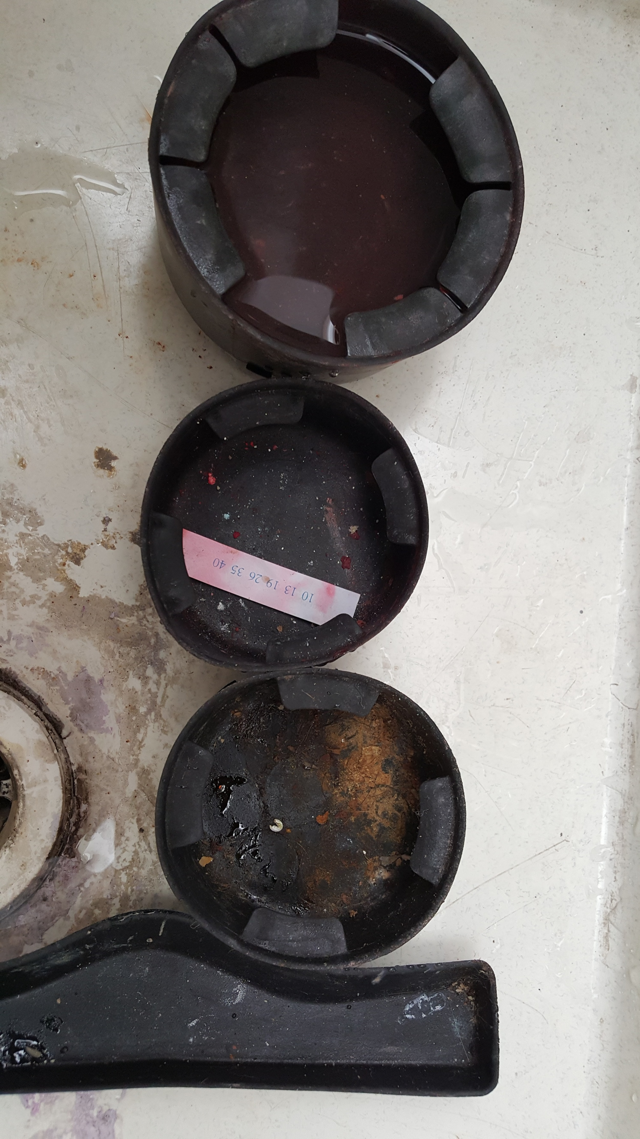 Before, Rubber Cup holder trays