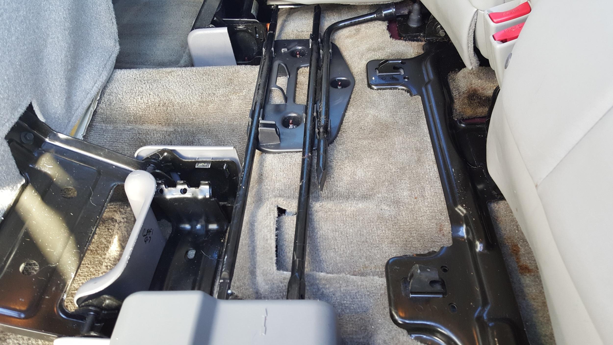After, Under Back Seats