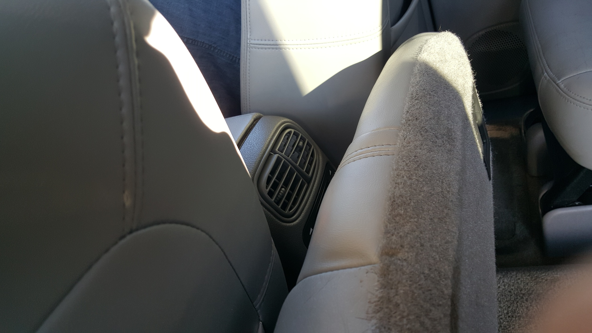 After, Where seat bottom meets seat back