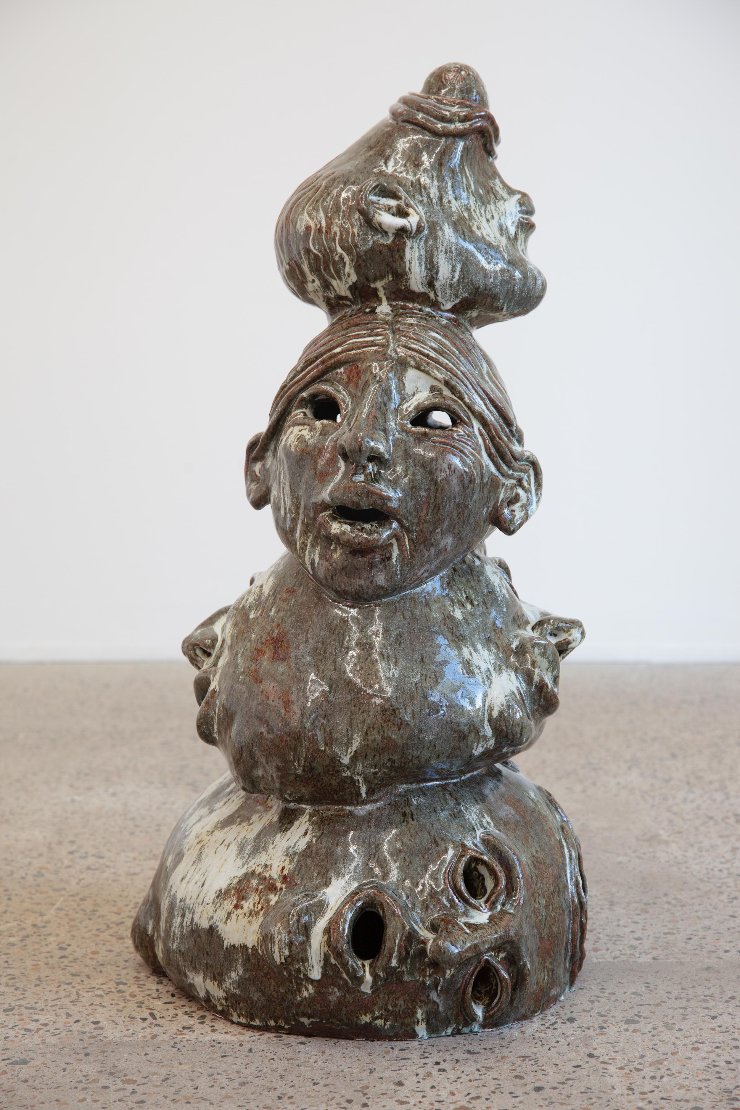 Visionary, hand built ceramic, stoneware glaze, 85 x 45 x 45cm