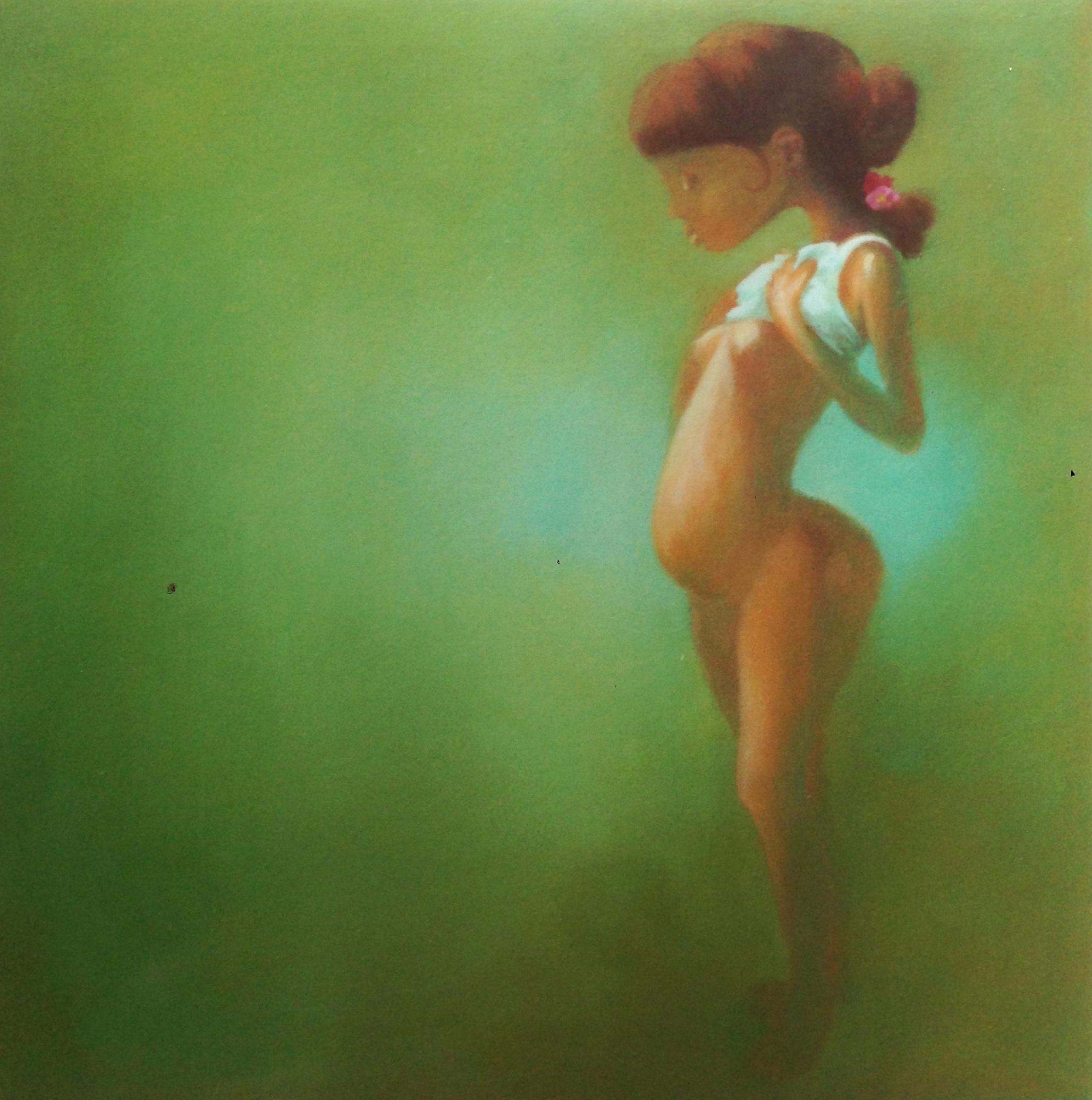 Peek-a-Boo, oil on canvas