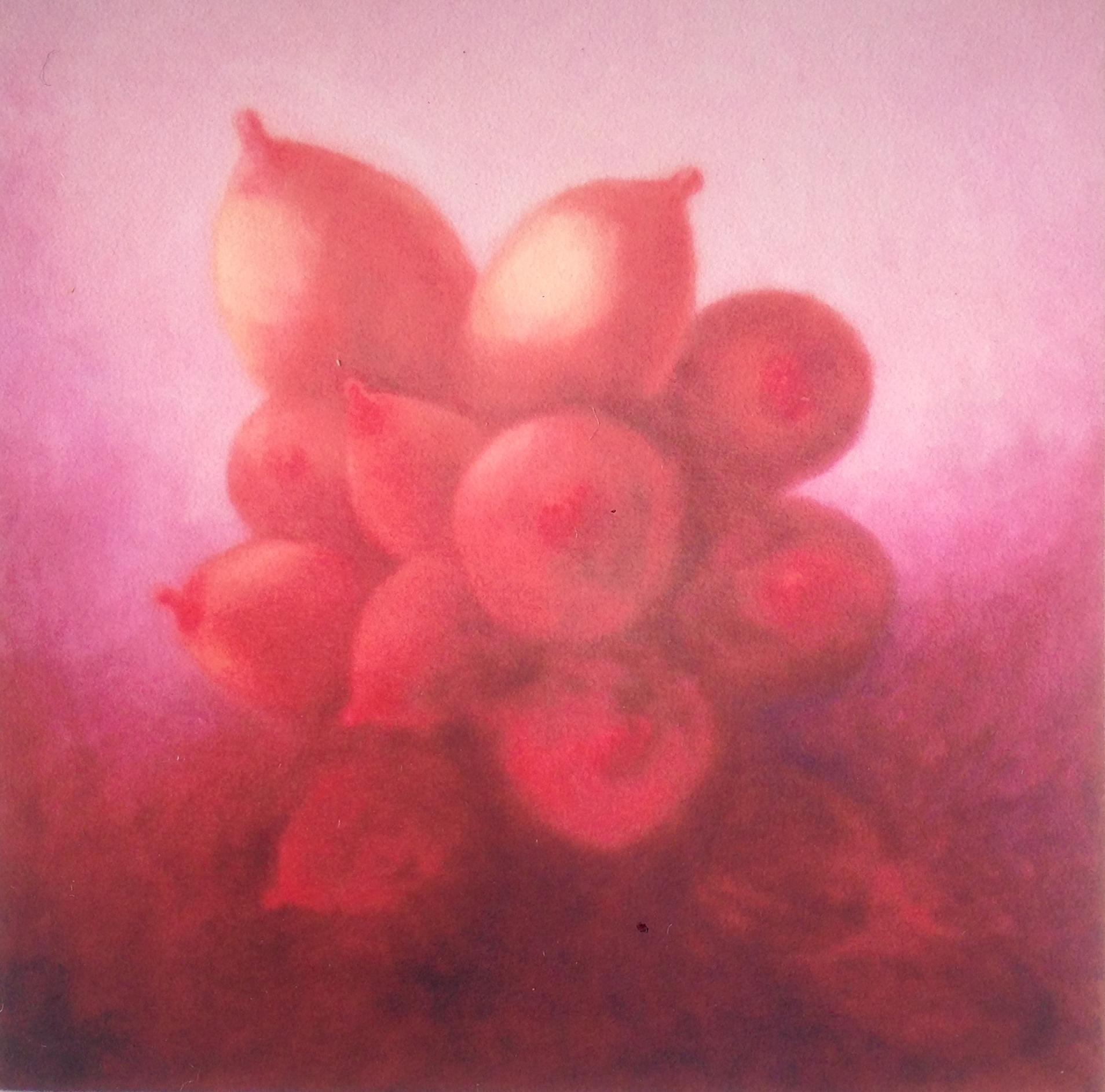 Boob Bouquet, oil on canvas
