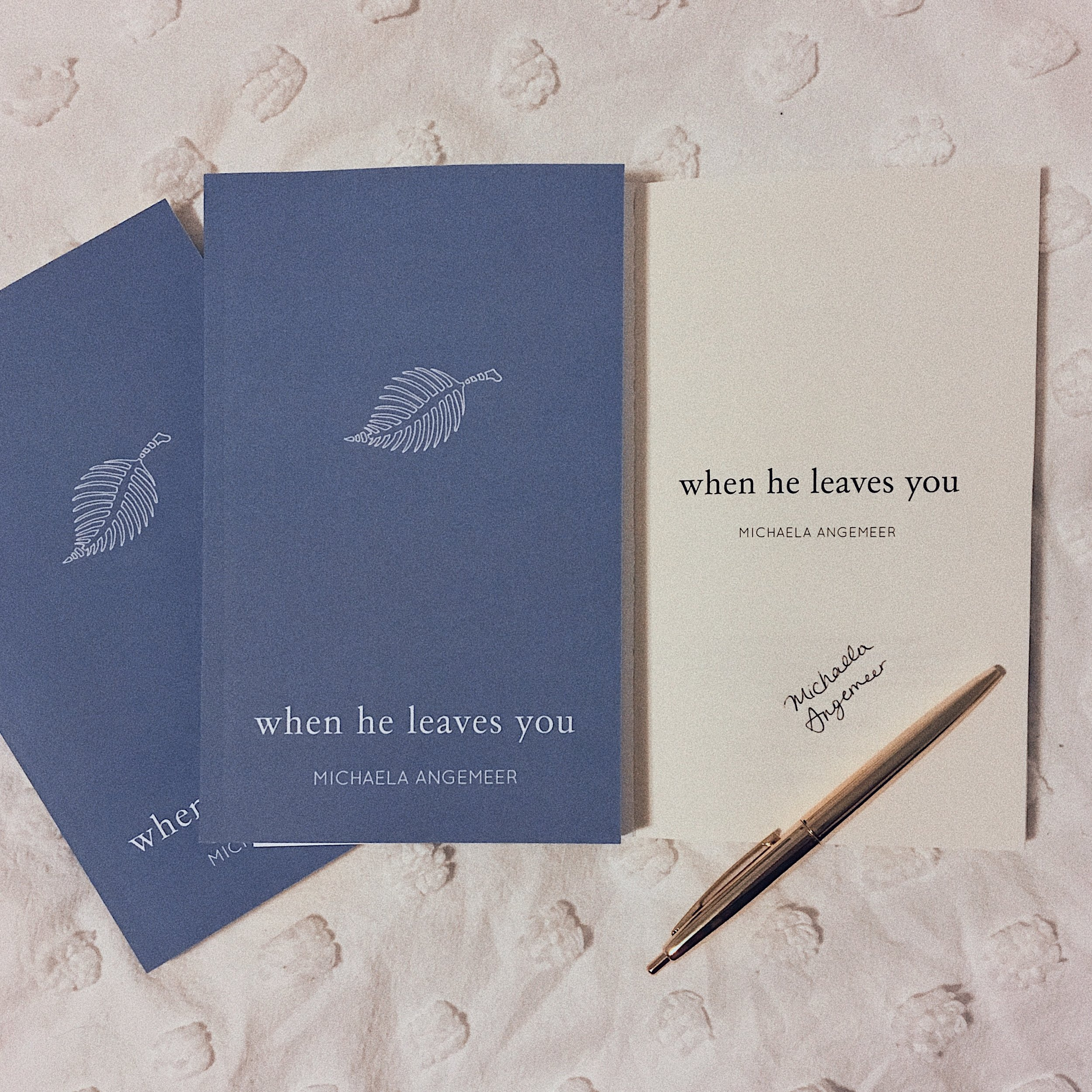 signed copy - when he leaves you