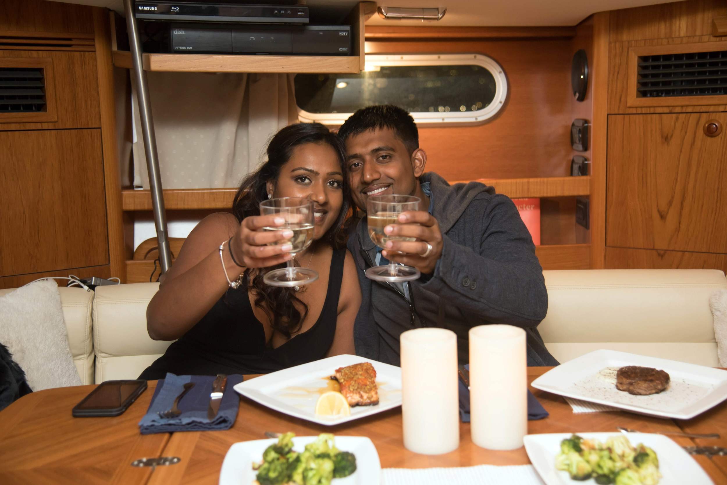 private yacht dinner