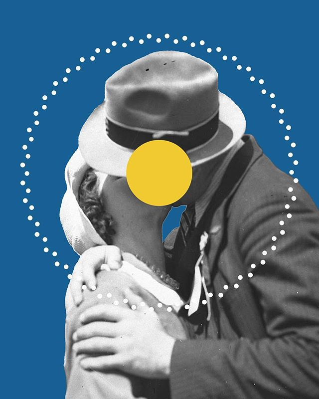 Gold & Blue. . . . . . . . #illustree #illustration #illustrationartists #illustratorsoninstagram #photoshop #drawing #penandink #graphic #design #graphicdesign #art #designspiration #behance #aiga #contemporaryart #artist #artistsoninstagram #artdirection #collage #love #kissing #blue #gold #geometric