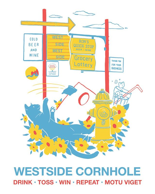 Thanks @terence_frixen for letting me design the tees for the west side cornhole league this year! It was a blast to design. Looking forward to seeing these on tees soon! . . . . #graphicdesign #design #screenprinting #illustration #illustree #grandrapids #digitalillustration #designspiration #cornhole