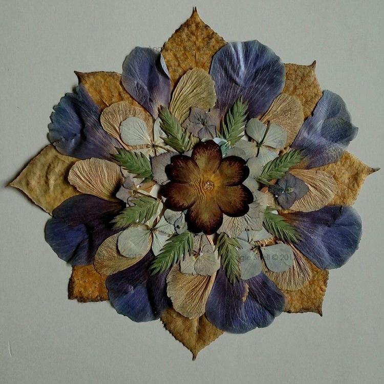 Pressed Flowers & Leaves Mandala