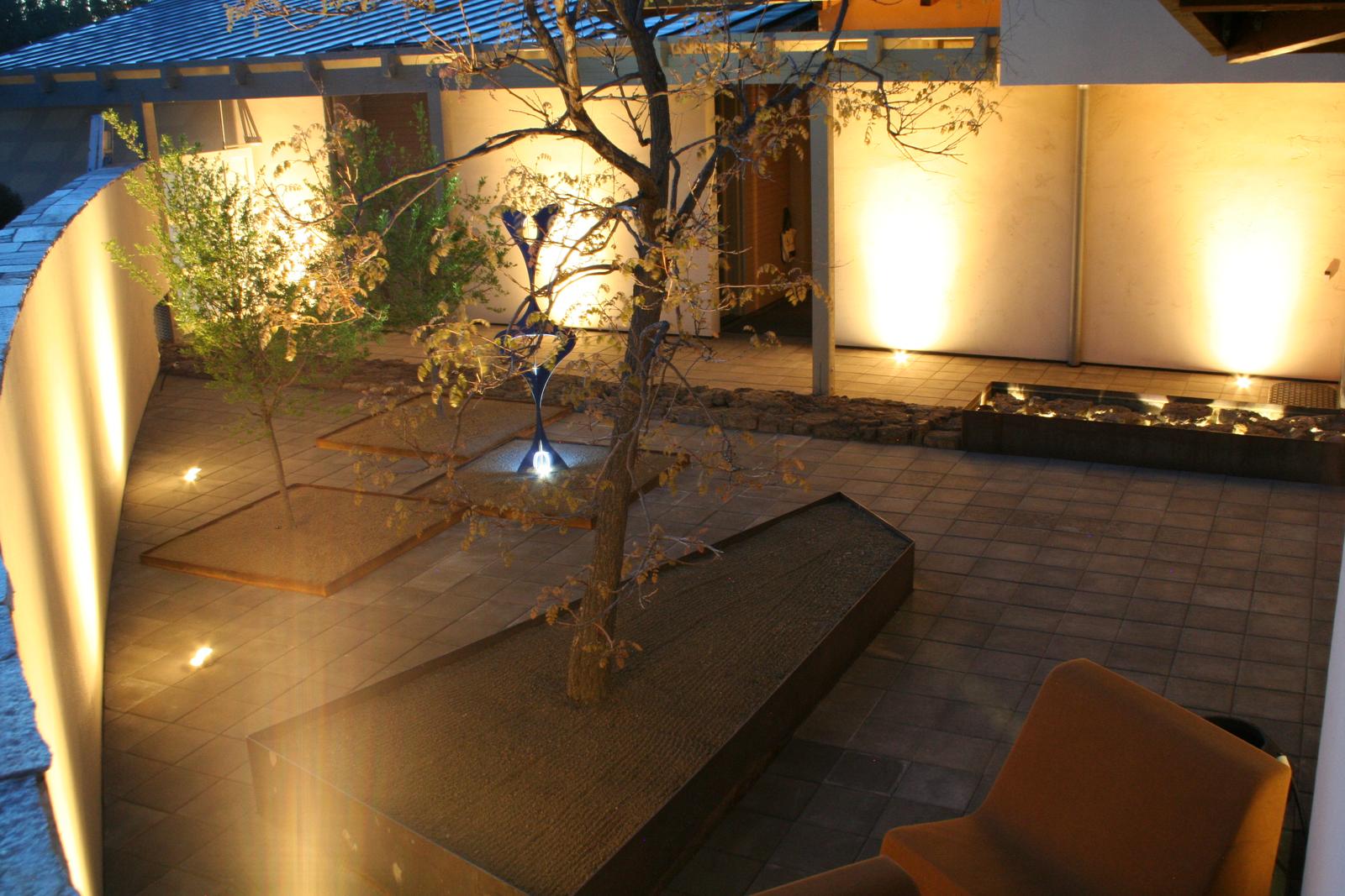 Illuminated Courtyard