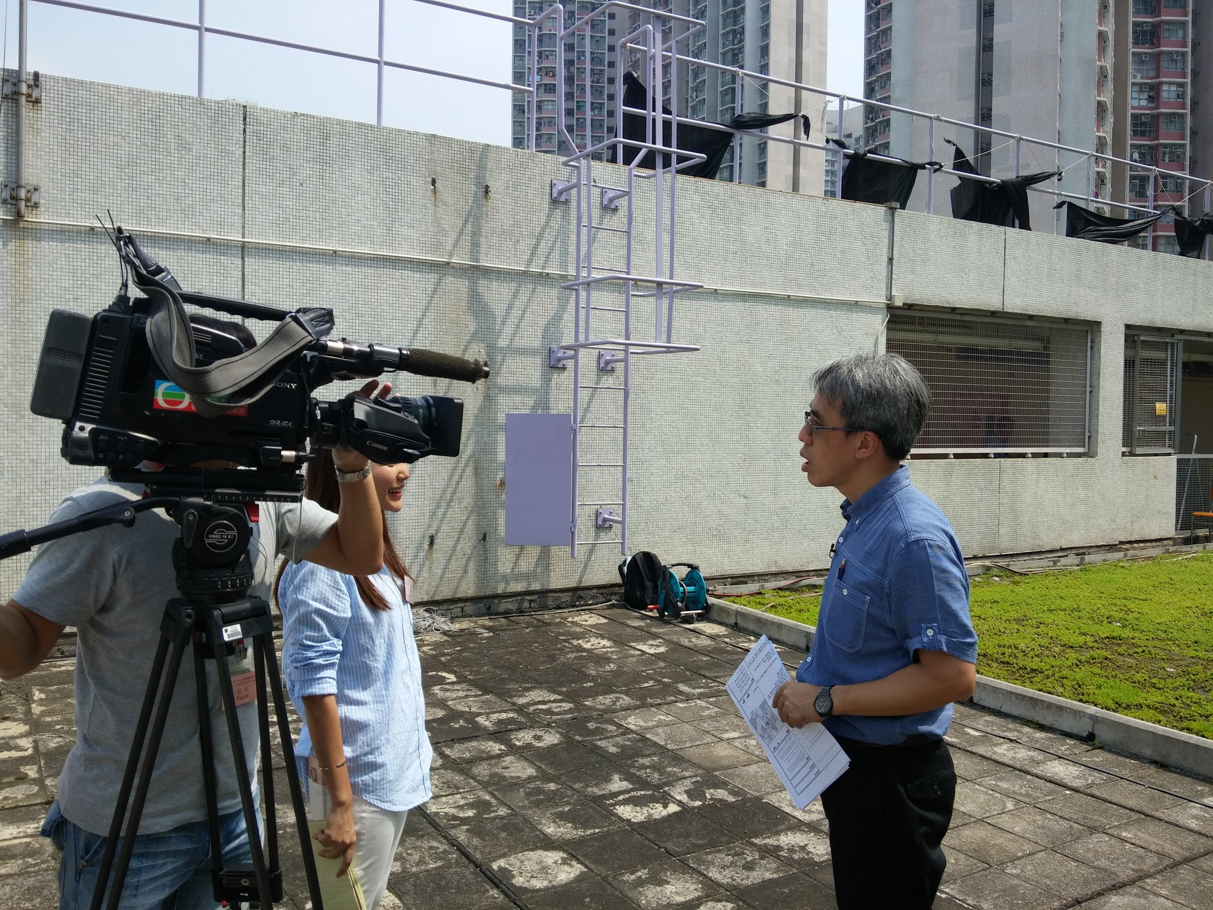 TVB - News Magazine (新聞透視   ) :  Our engineer commented on the incident of CityU green roof collapse