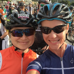 With Alanna at the start line