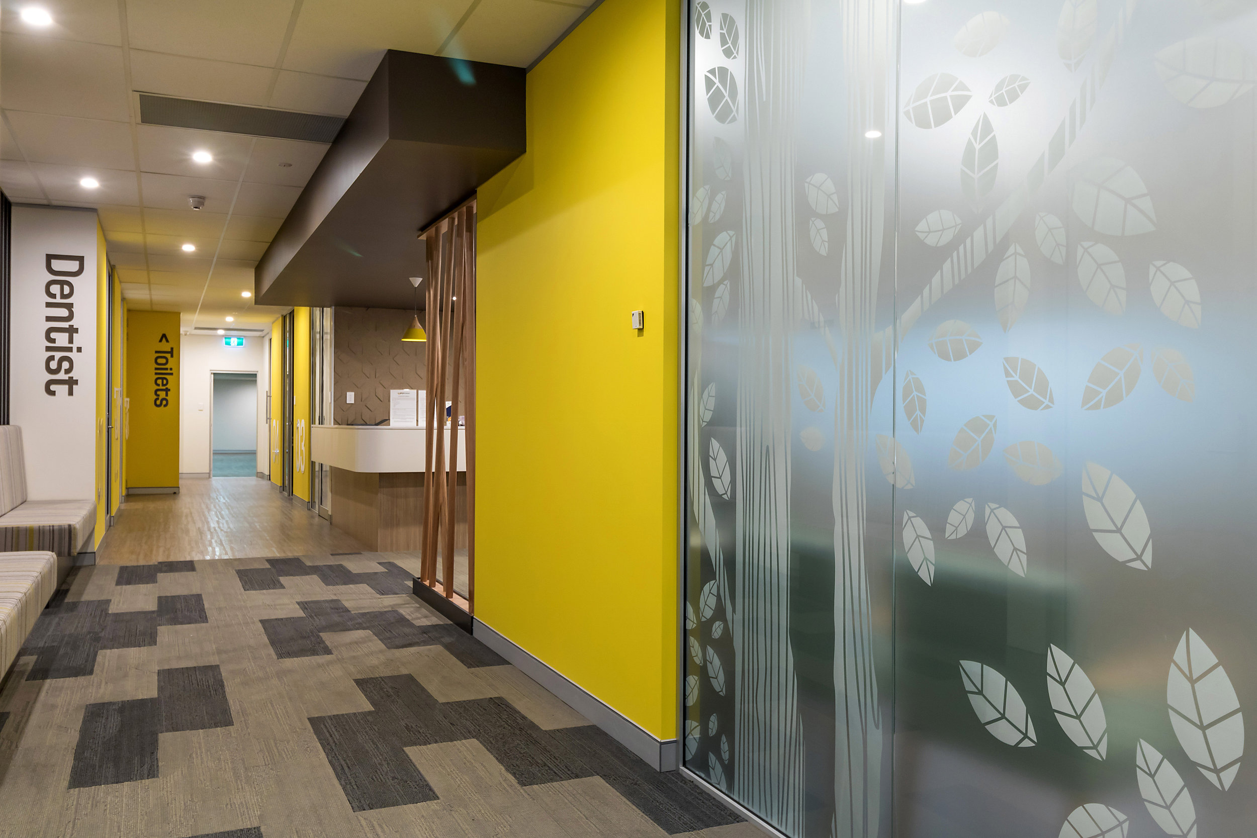 Glass partitioning in Dental Surgery designs