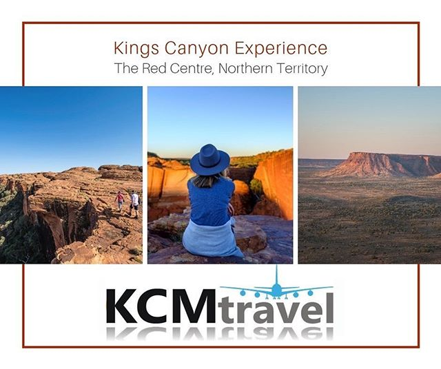 Escape Winter with a Kings Canyon Delight Package 3 days / 2 nights from $774^ per person, twin share  Inclusions: 2 nights at Kings Canyon Resort in a Standard Room Buffet breakfast 1x lunch and 1x dinner at Kings Canyon Resort Indigenous Karrke Experience* Guided Rim Walk Experience Return scenic air transfers from Ayers Rock Airport to Kings Canyon  Contact KCM Travel 9439 9666 or info@kcmtravel.com.au